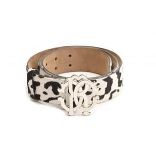 Roberto Cavalli Pony Skin Leather Belt
