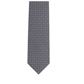 Gucci GG Pattern Silk Blue Tie