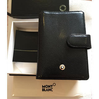 Mont Blanc Leather Card Holder Wallet