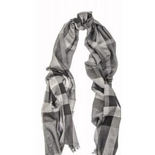 Burberry Charcoal Check Explored Nova Gauze Scarf/Wrap