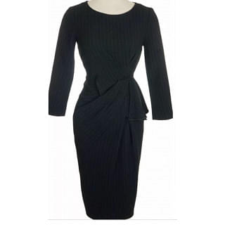 Karen Millen Women Black Stripped Dress