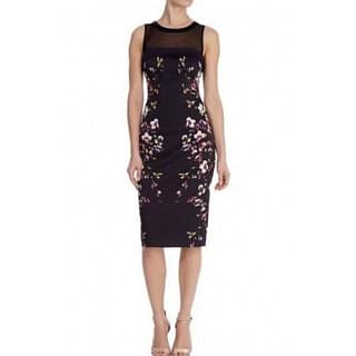 Karen Millen Women Black Flower Dress