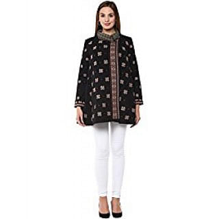 Ritu Kumar Cross Stitch Rug Black Coat