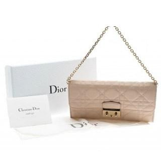 Dior Pink Cannage Quilted Lambskin Wallet on Chain