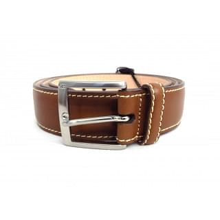 Carolina Herrera Dark Brown Hand Stitched Leather Belt