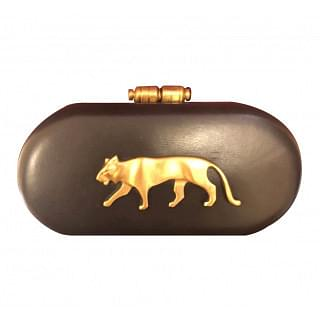 Sabyasachi Black Royal Bengal clutch