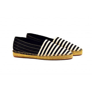 Marc Jacobs Black & White Striped Espadrilles