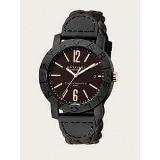 Bvlgari Bvlgari Carbon Gold Brown Carbon-Gold/Leather 40mm Watch