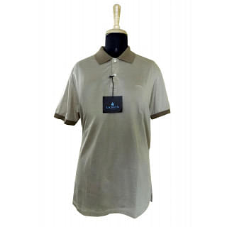 Lanvin Men's Contrasting-collar Cotton Pique Polo Shirt