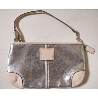 Coach Small Metallic Gold Leather Baguette