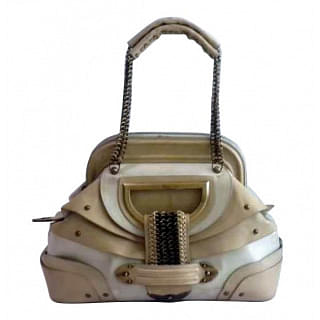 Dior Jeanne Beige Leather Chain Handle Bag