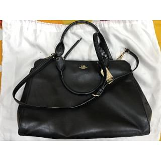 Coach Sage Carryall Black Leather Shoulder Bag