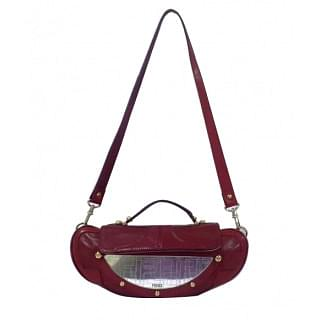 Fendi Mirror Vanity Clutch Crossbody Bag