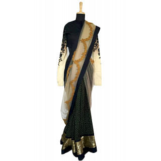 Sabyasachi Black Cocktail saree