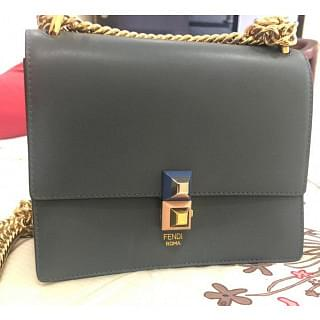 Fendi Kan I Calf Leather Shoulder Bag