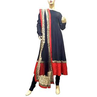 Sabyasachi Black and Red 3 Peice Suit
