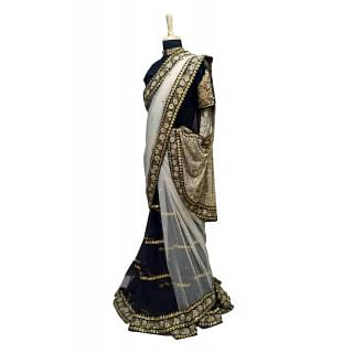 Sabyasachi Black and Gold Saree