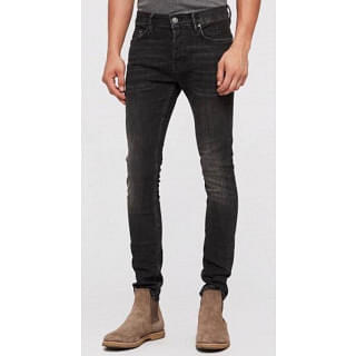 Allsaints Men's Grey Cigarette Jeans