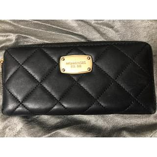 Michael Kors Black Quilted Wallet