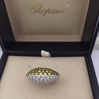 Chopard White and Yellow Diamond Ring