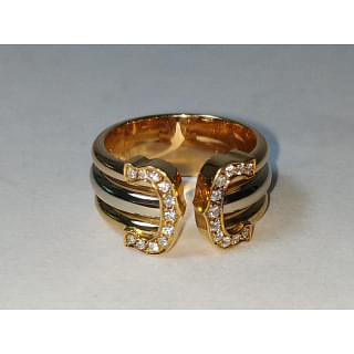 Cartier CC Ring with Diamonds