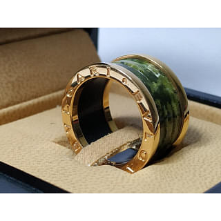 Bvlgari B Zero Green Ceramic Ring