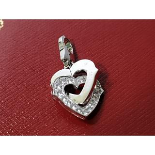 Cartier 2 Heart Pendant with Diamond