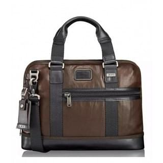Tumi Alpha Bravo Earle Compact Leather Briefcase