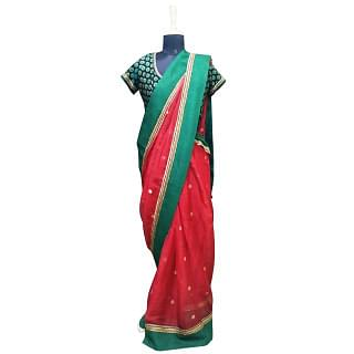 Sabyasachi Red Green Saree