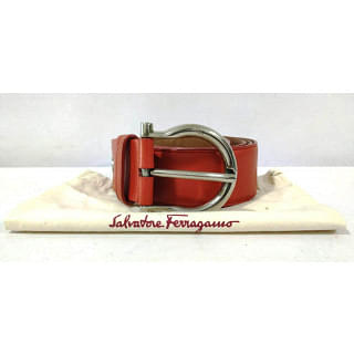 Salvatore Ferragamo CT-677528 Palladio Gancio Leather Belt