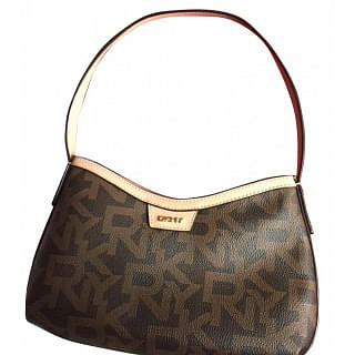 DKNY Heritage Coated Signature Small Shoulder Bag