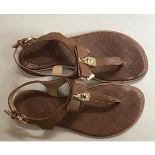 Michael Kors Alice Thong Leather Padlock Sandals