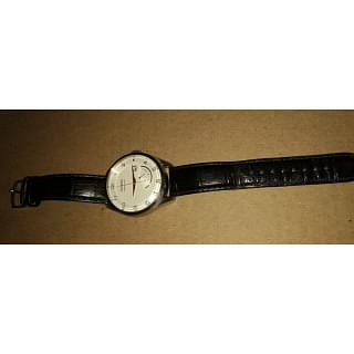 Seiko Kinetic Leather Strap Men Watch