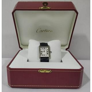Cartier Tank Solo Stainless Steel Quartz Wrist Watch