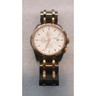 Tissot Chronograph Black and Gold Watch