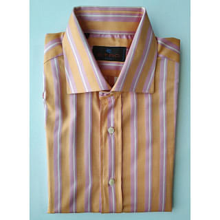 Etro Milano Pink Orange Line Shirt