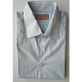 Thomas Pink Blue White Line Shirt