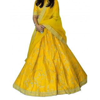 Sabyasachi Lemon Yellow Bridal Lehenga