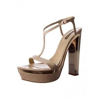 Roberto Cavalli Rds735 Nude leather Sandals