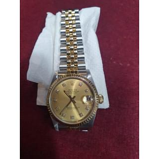 Rolex Datejust Champagne Diamond Dial Yellow Steel and Gold Jubilee Bracelet Automatic Watch