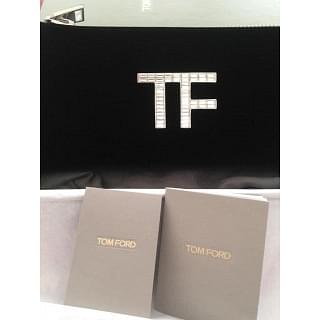 Tom Ford Logo Crystal Logo Plaque Clutch