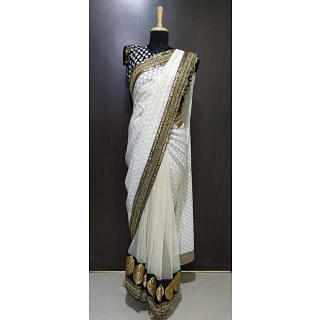 Sabyasachi White Cotton Saree