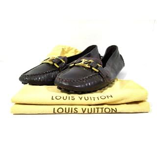 Louis Vuitton Burgundy Patent Flats Loafers