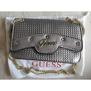 Guess Metallic Chain Shoulder Bag