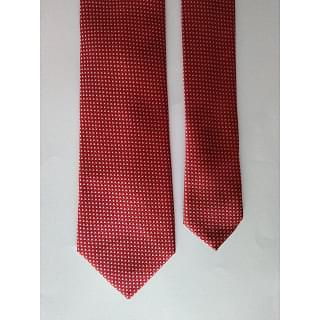 Father & Sons White Dot Red Tie