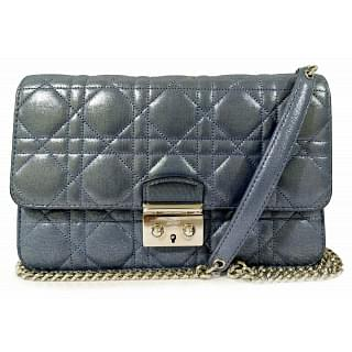 Dior Lambskin Cannage Miss Dior Promenade Pouch Leather Clutch
