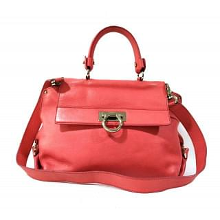 Salvatore Ferragamo Sofia Leather Medium Top Handle Satchel