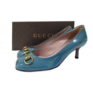 Gucci Patent Leather Jolene Horsebit Pumps