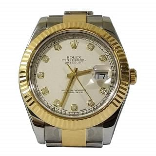 Rolex Datejust II 41mm Stainless Steel and 18KYG 116333 Mens Watch