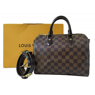 Louis Vuitton Bandouliere Damier Ebene Speedy 25 Bag